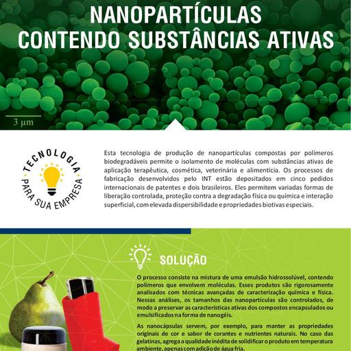 Nanoparticulas Contendo Substâncias Ativas