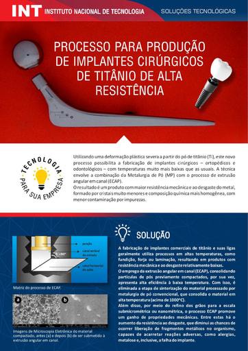 Processo de Producao de Implantes Cirurgicos de Titanio