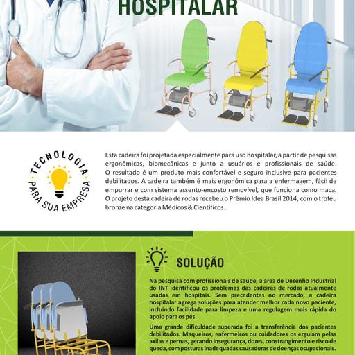 Cadeira de Rodas Hospitalar