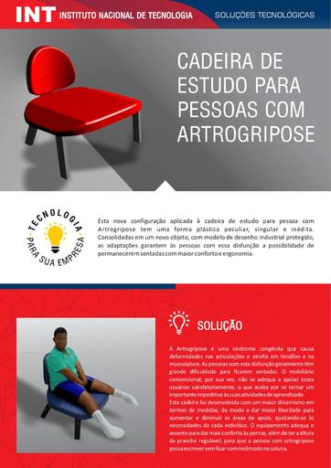 Cadeira de Estudo para pessoas com Artrogripose