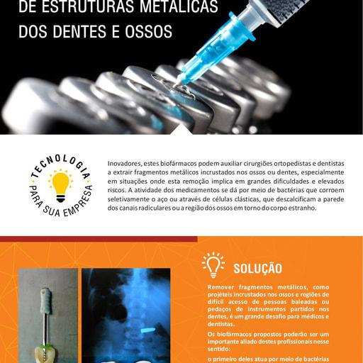 Biofármacos para Remoção de Estruturas Metálicas dos Dentes e Ossos