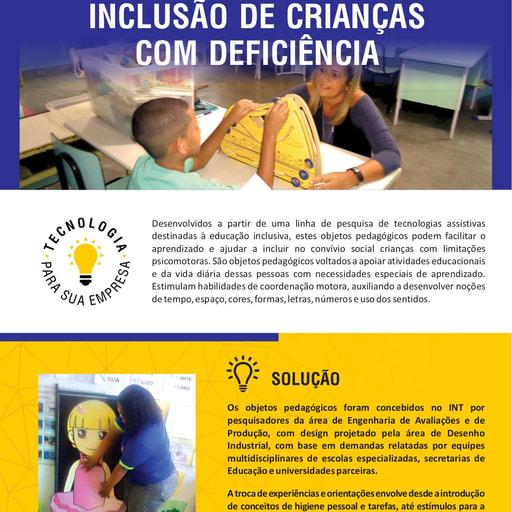 Objetos Pedagógicos para Inclusão de Crianças com Deficiência