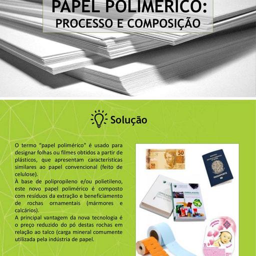 Papel Polimérico: Processo e Composição